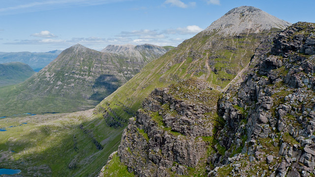 View back to Spidean a' Choire Leith