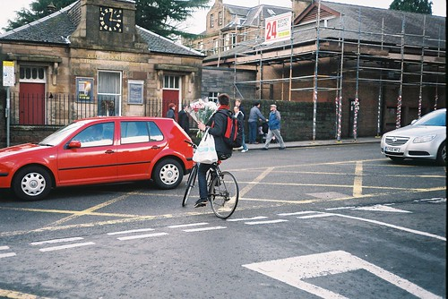 Valentines day cyclist