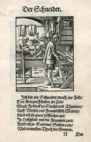 027-El sastre-Ständebuch 1568-Jost Amman-Hans Sachs