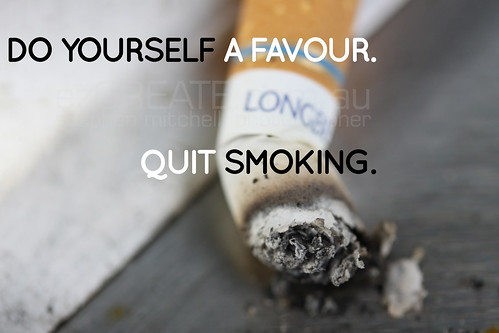 "Poster Design for ""Quit Smoking"" Campaign 01"