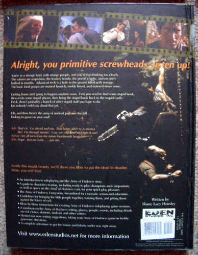 Rear cover of Army of Darkness