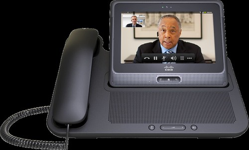 Cisco Cius business tablet in its docking station