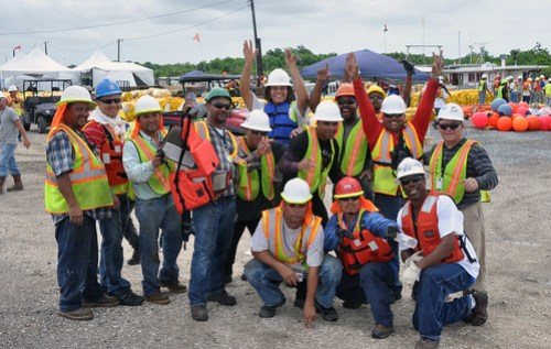 Oil Boom Workers