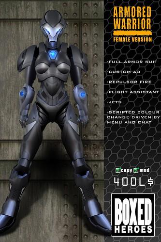 Armored Warrior Female Avatar Vendor