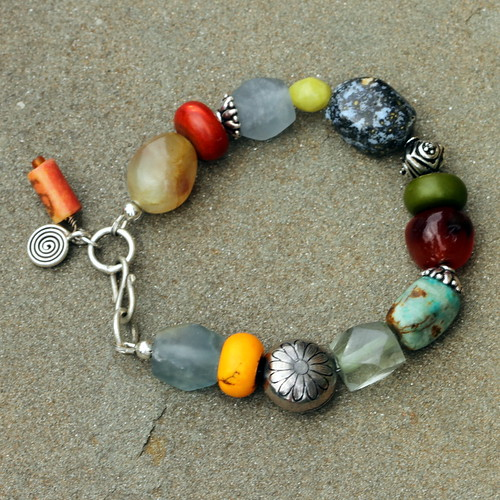 Chunky Gemstone nugget bracelet