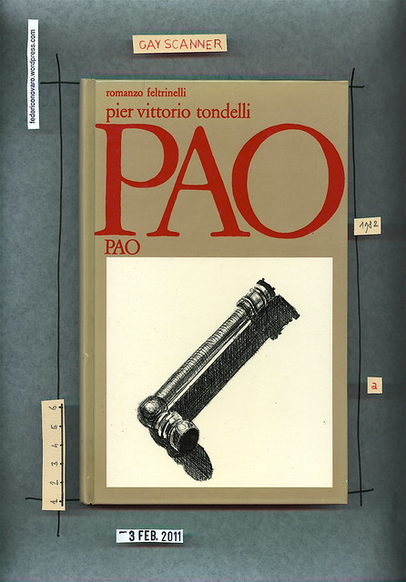 Pier Vittorio Tondelli, Pao Pao, Feltrinelli 1982. Copertina.