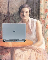 Portrait of a Woman Blogger, after Frederick C...
