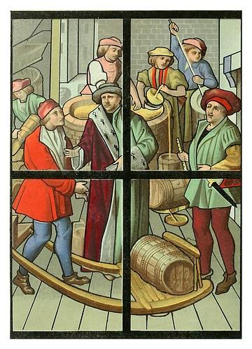 010-Los cerveceros Vitral siglo XV Catedral de Tournai-Le moyen äge et la renaissance…Vol III-1848- Paul Lacroix y Ferdinand Séré