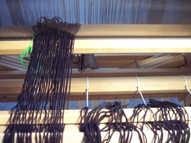 warp for handspun woven scarf