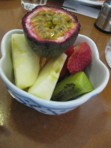 complimentary fruit salad