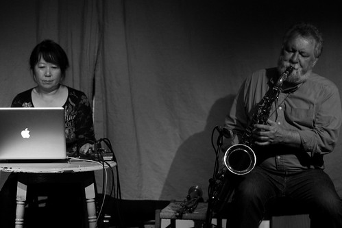 Ikue Mori with Evan Parker
