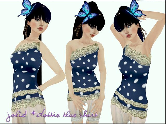 jOLIE! Dottie Blue Shirt