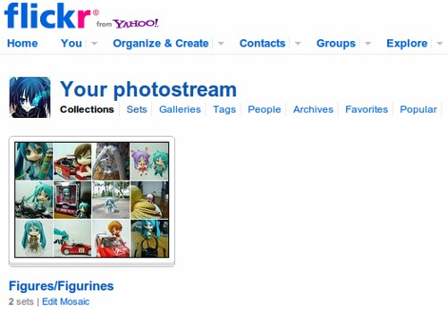 Flickr - collections/sets page