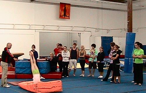 Yves leading Level 2 Gymnastics Coaching clinic