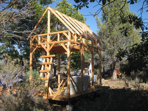 hut 2.0 with rafters