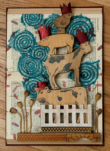 Altered Book: Of Animal Folklore and Fables