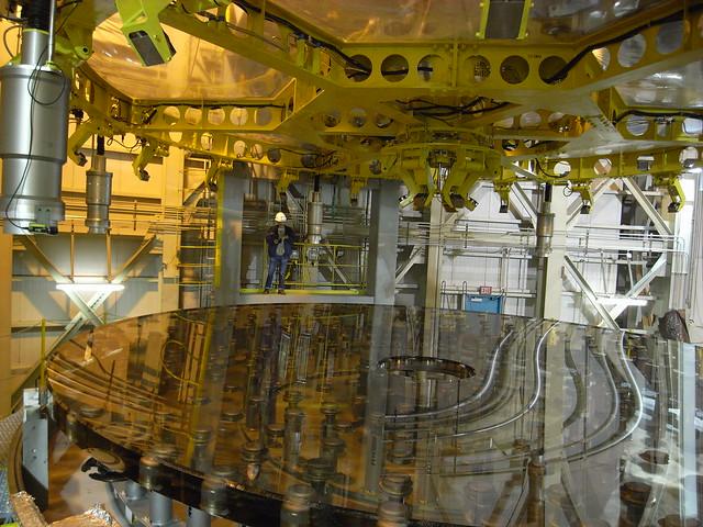 Subaru Telescope mirror (before aluminization)