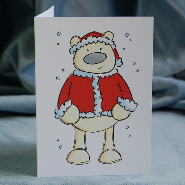 polar santa - christmas card design