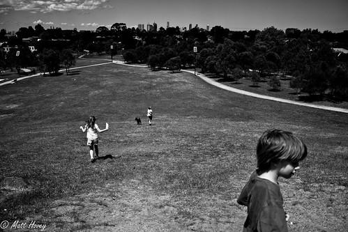 running down the hill by Matt Hovey