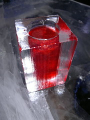 Red ice drink