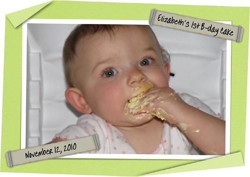 Elizabeth's 1st taste of Cake