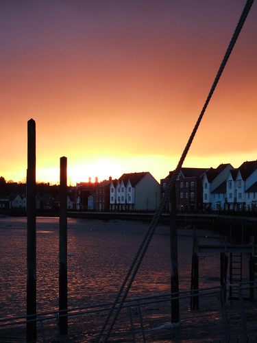 Sunset Over Wivenhoe Quay