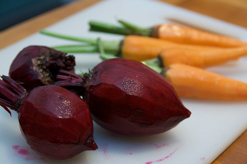 Roasted Beets and Carrots - All Cleaned Up