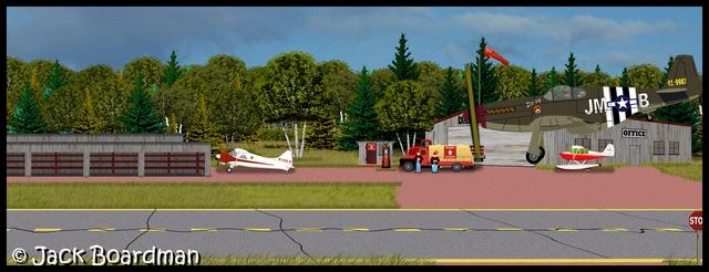 Landing P51B named Daisy at Danger Bay Field