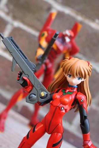 Asuka and Eva Unit 2