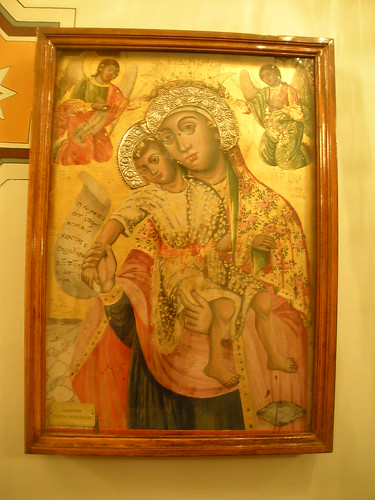 Painting in Greek Orthodox church of St Mary of the Mongols