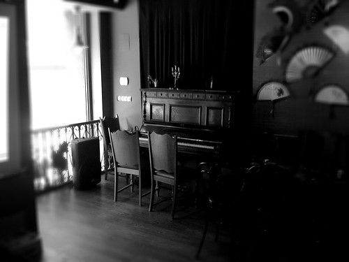 Black and white with piano  by Ruslan Trad