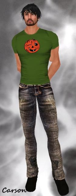 UM Jeans group gift  terri.tees Winking pumpkin tee