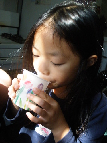 Olivia Drinking Normal Water