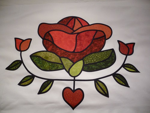 Applique Rose by Samantha Halliwell