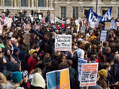 Whitehall, London students protest against fee...