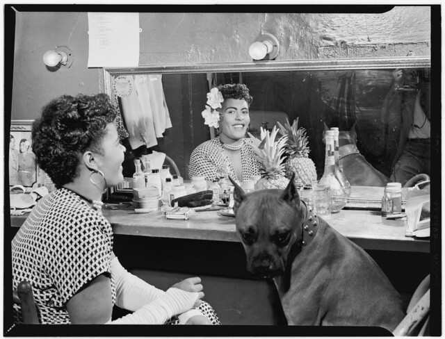 [Portrait of Billie Holiday, Downbeat(?), New York, N.Y., ca. June 1946] (LOC)