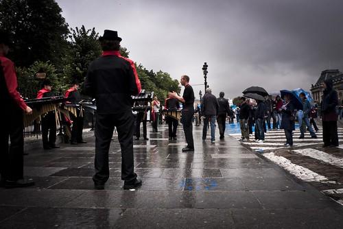 Les Musiciens sous la pluie - Balloon's Day Parade, Bruxelles - Photo : Frederic Giet (Gilderic)