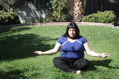 Seeking Inner Calm on the Lawn...