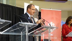 Ric McIver (L) at Southcentre mayoral forum