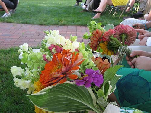 bouquets at the wedding