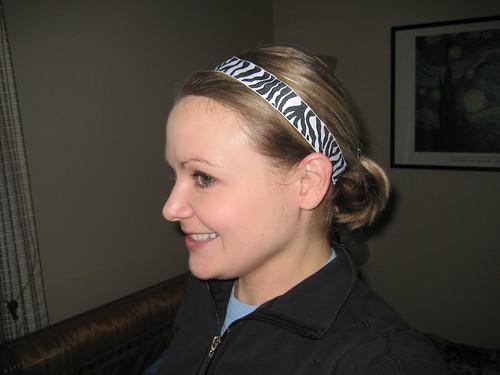 Zebra skinny Sweaty Bands headband