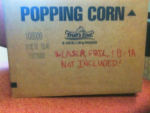 18 Pounds of Popcorn