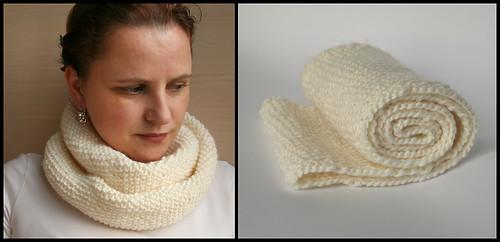 white endless shawl