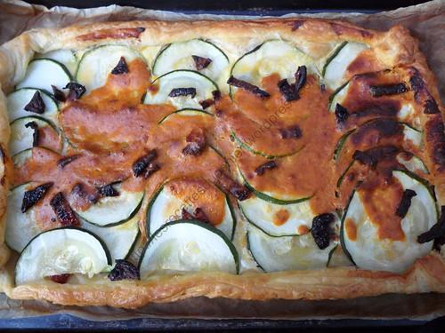 Tarte aux courgettes et au pesto / Zucchini and pesto tart