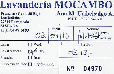 Mocambo-afhaalbon