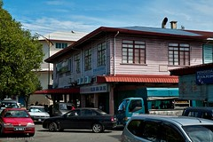 old timber shophouse at Papar town.