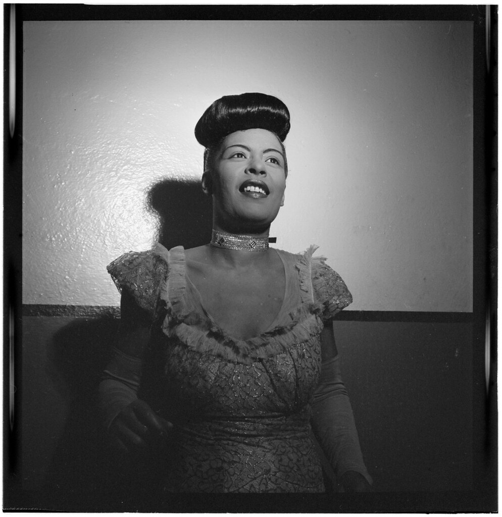 [Portrait of Billie Holiday, Carnegie Hall, New York, N.Y., between 1946 and 1948] (LOC)