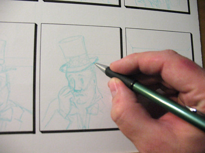 Pencilling the first OpinioNation during Culture Days @ Martin House