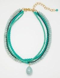 David Aubrey necklace blue-green
