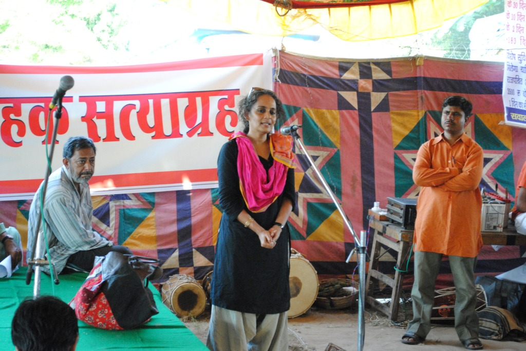 Pics from the satyagraha - 2 & 3 Oct 2010 - 1